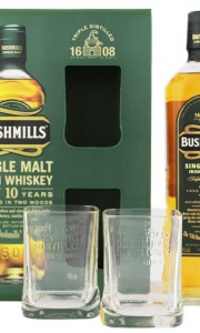 Bushmills 10YO Malt Whiskey 0,7L + 2 glasses  Gift Box